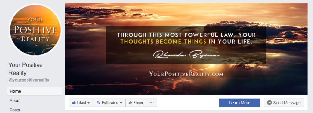 Your Positive Reality - Facebook Page