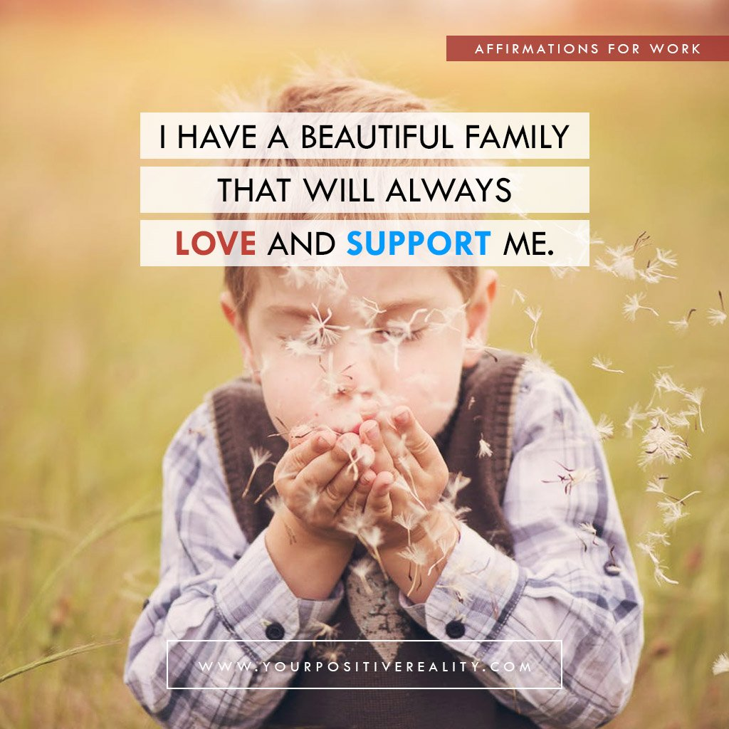 I Have A Beautiful Family That Will Always Love and Support Me | Affirmations for Kids