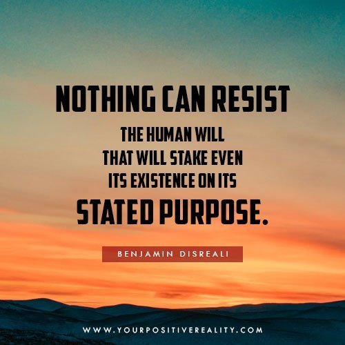 Nothing Can Resist The Human Will That Will Stake Even It's Own Existence On Its Stated Purpose